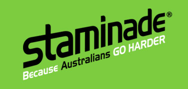 staminade because australians go harder logo