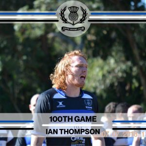 Ian Thompson - 100th Game -
