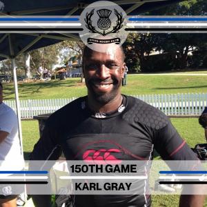 Karl Gray - 150th Game -