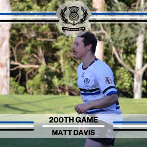 Matt Davis - 200th Game -